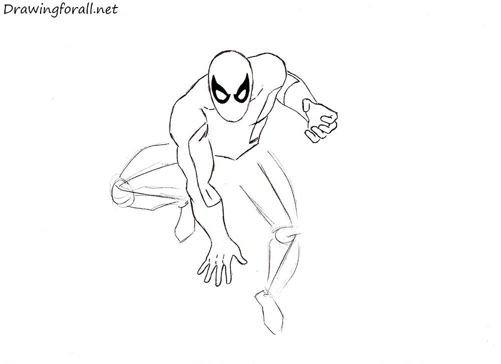 how to draw spider-man step by step