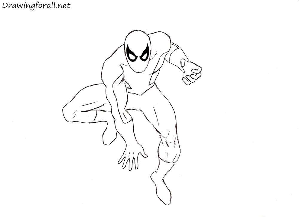 draw spider-man