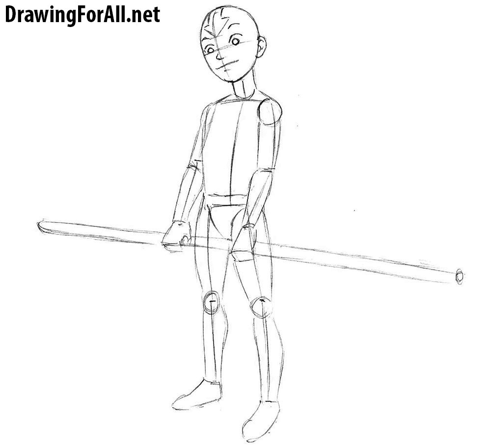 how to draw avatar aang