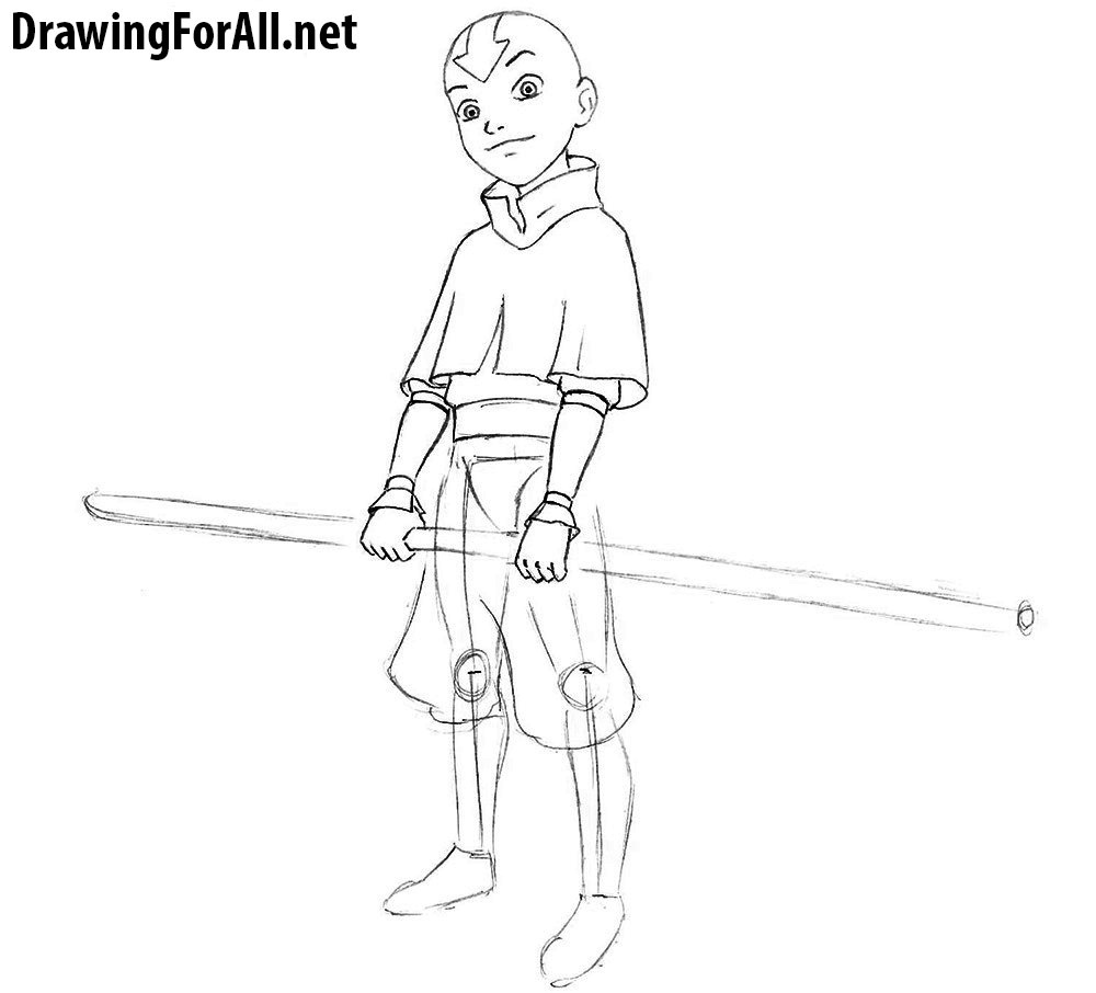 avatar aang drawing