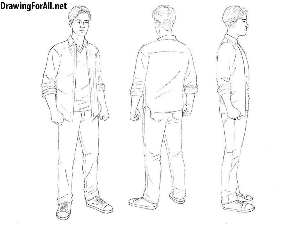 How to draw a man from any angle