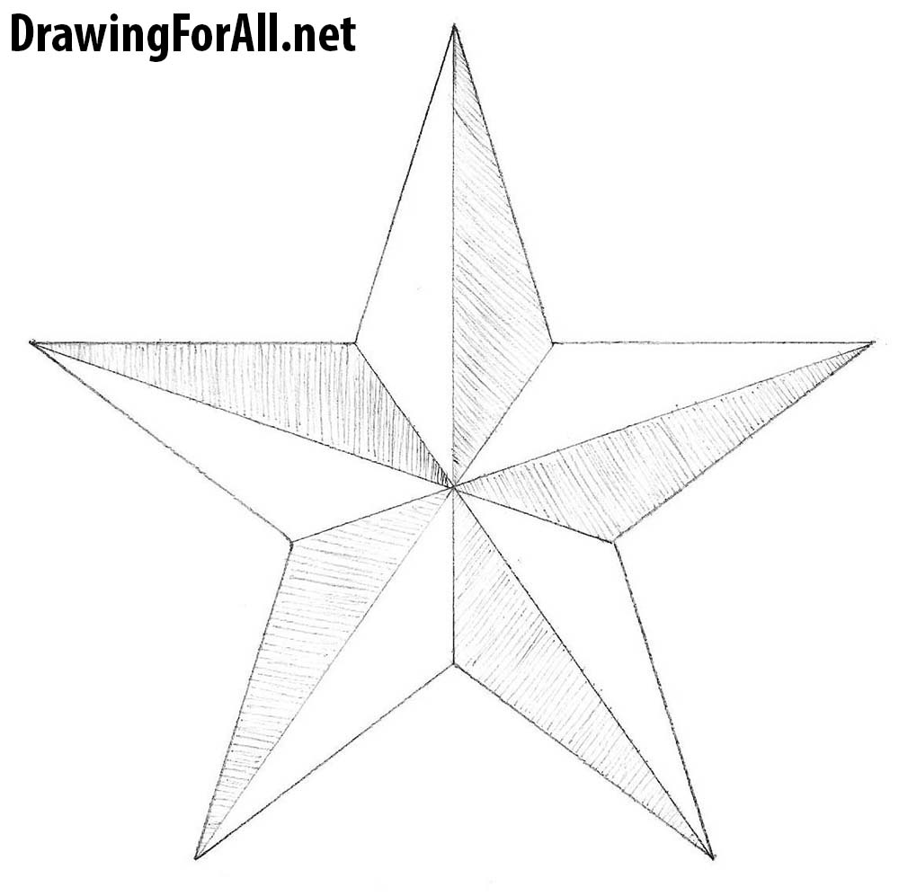Line Drawing Star : How to draw a star drawingforall