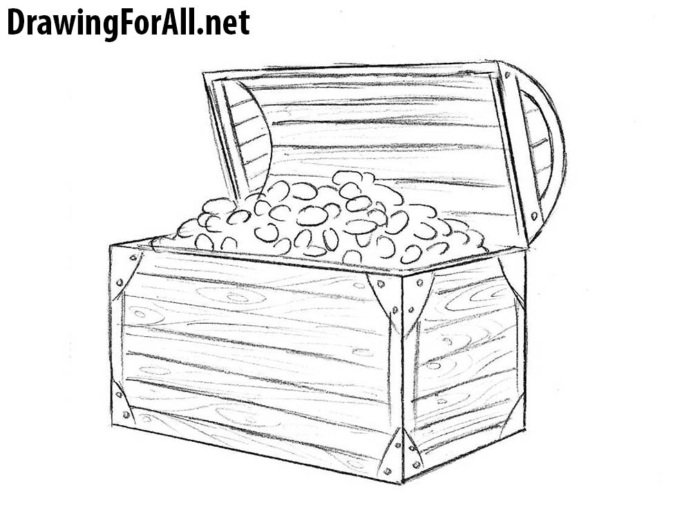 Pirate Chest Drawing | www.imgkid.com - The Image Kid Has It!