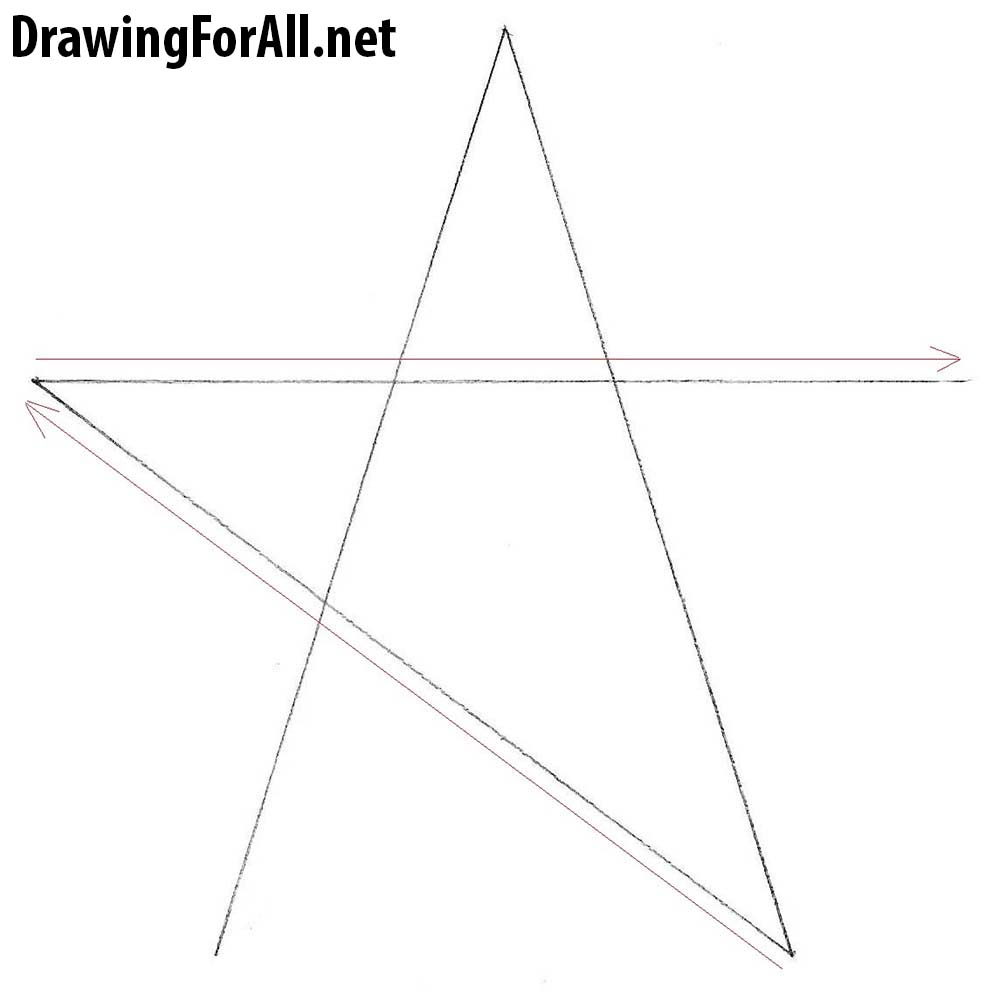 how to draw a star easy