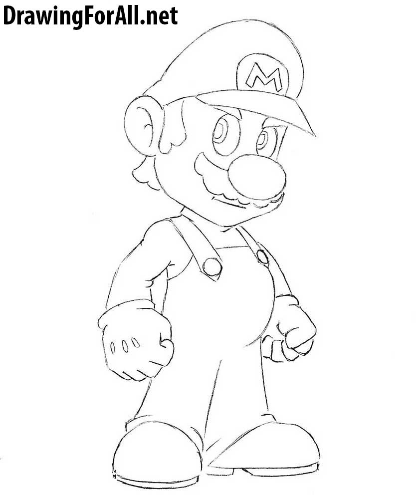 how to draw Mario