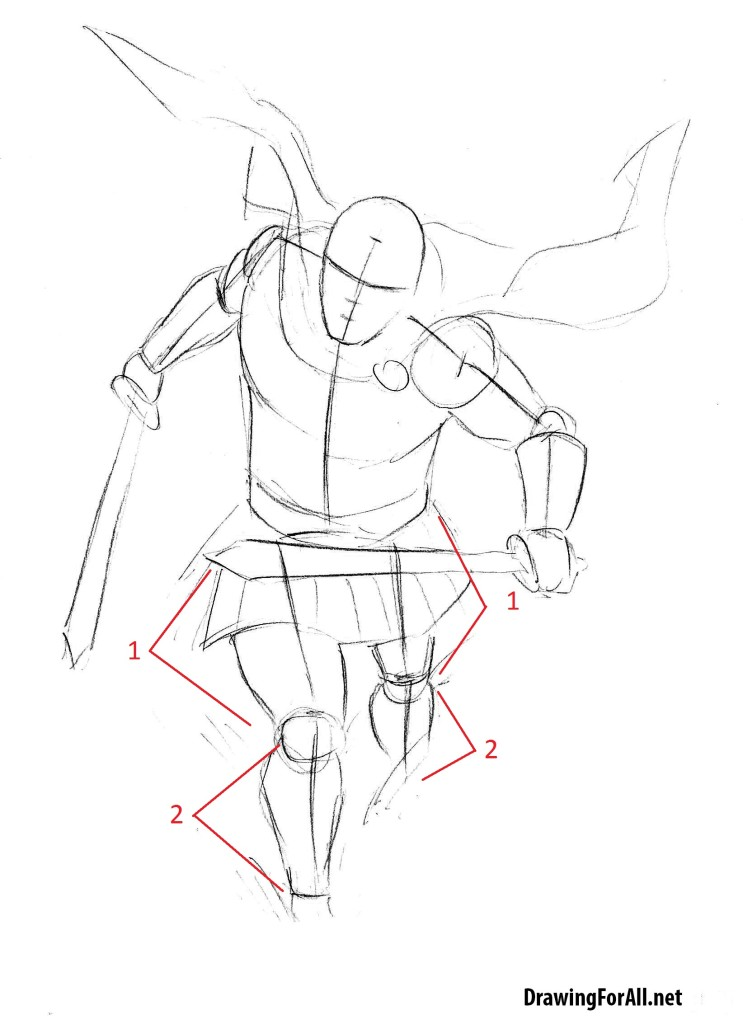 how to draw a roman soldier step by step by pencil