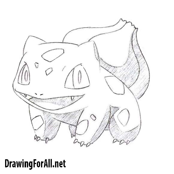 How To Draw Bulbasaur From Pokemon Drawingforall Net