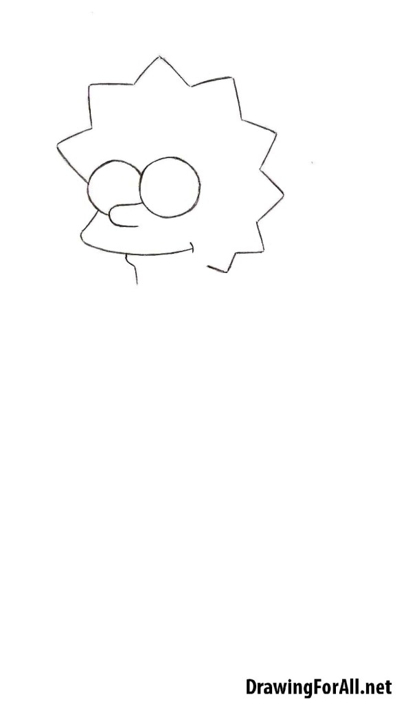 how to draw lisa simpson easy