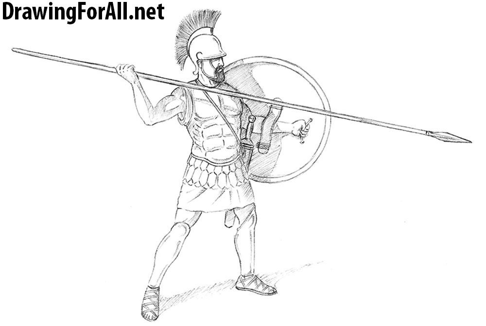How to Draw a Greek Warrior