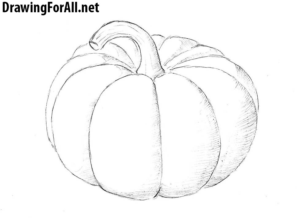 How to draw a pumpkin drawingforall