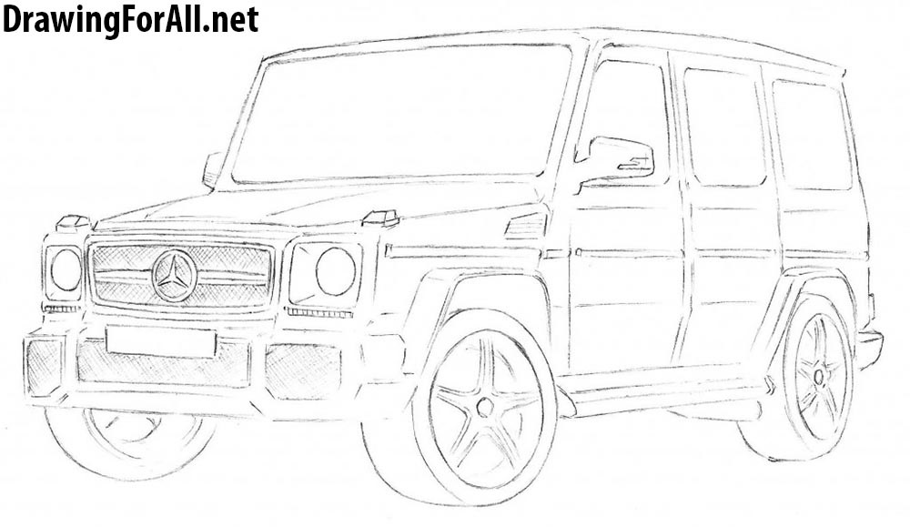 how to draw mercedes gelandewagen