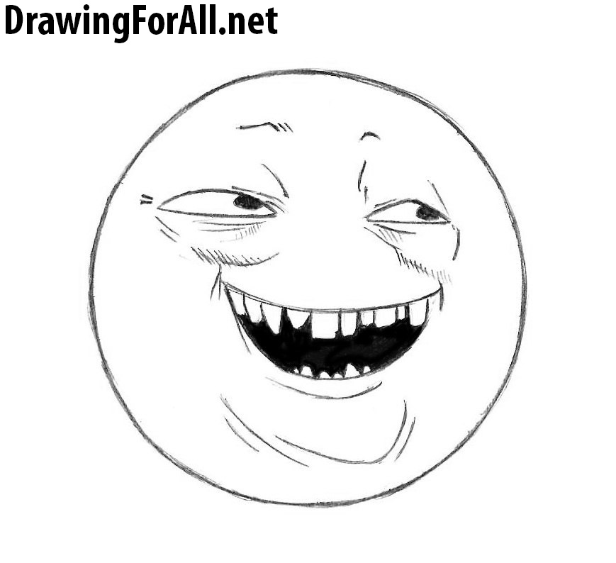 Line Art Meme : How to draw the cunning meme drawingforall