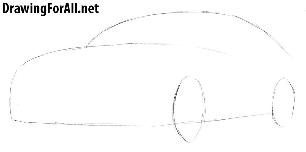 how to draw mercedes s-class step by step