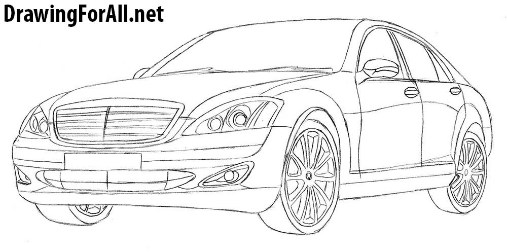 how to draw mercedes s class