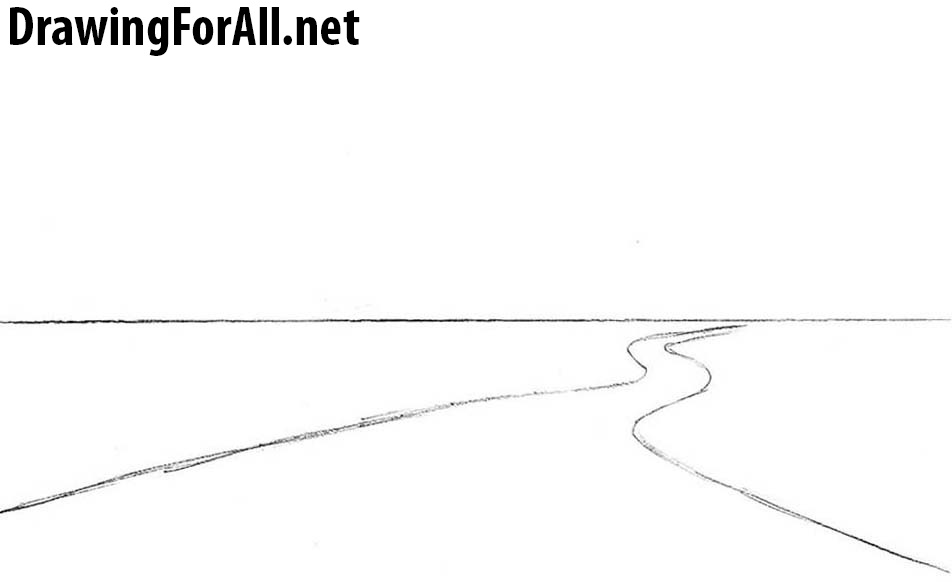 Line Drawing Net : How to draw a road for beginners drawingforall