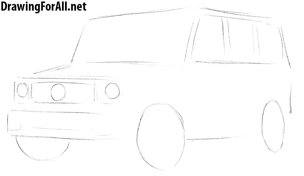 how to draw mercedes