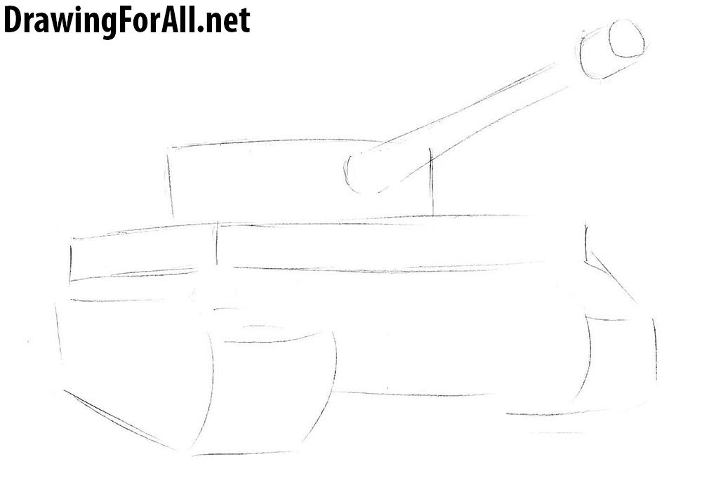 learn how to draw a tiger tank