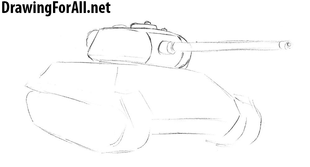 How to draw T-34