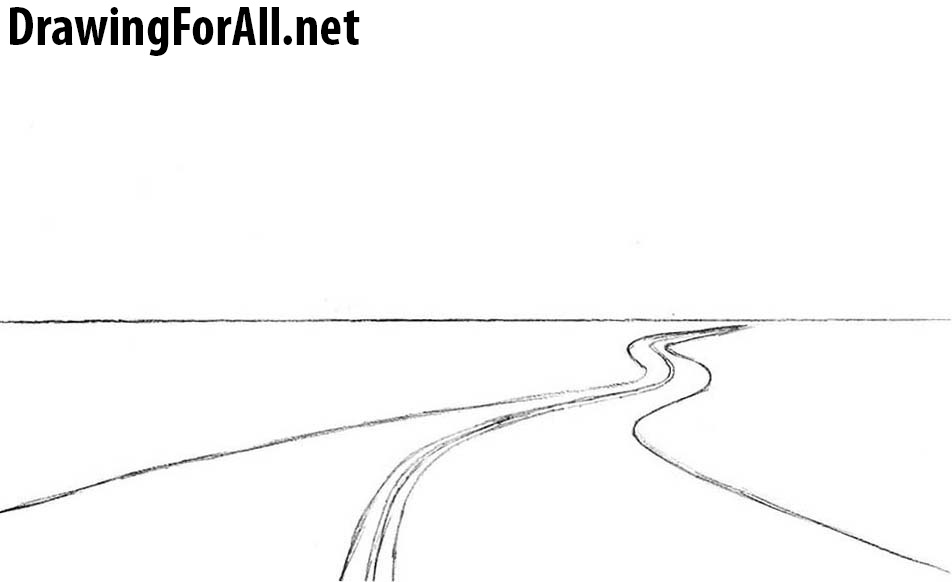 Drawing Smooth Lines Xbox One : How to draw a road for beginners drawingforall