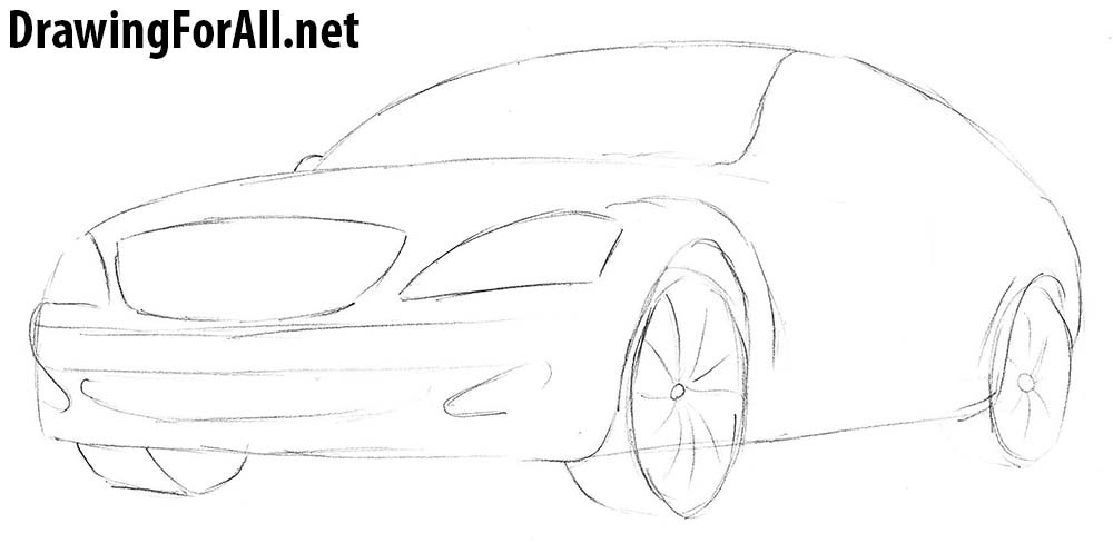 how to draw mercedes benz