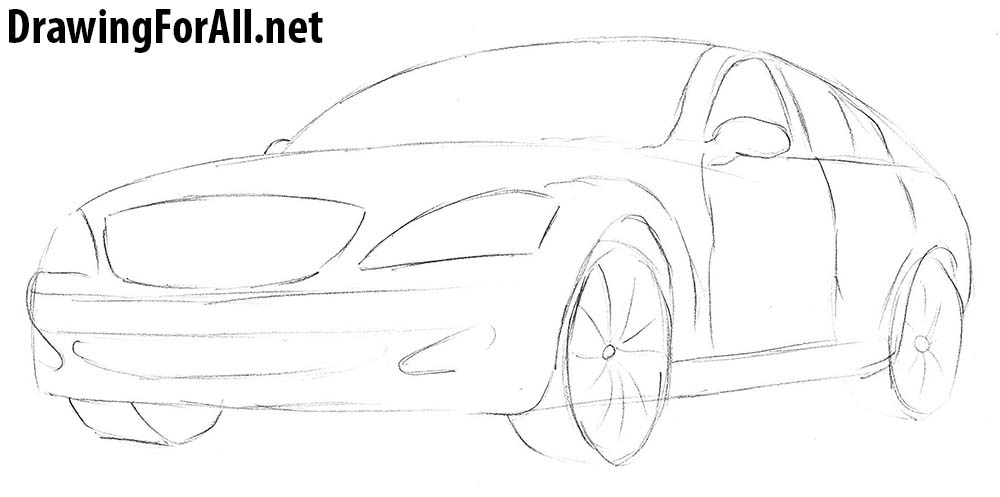 how to draw mercedes s221