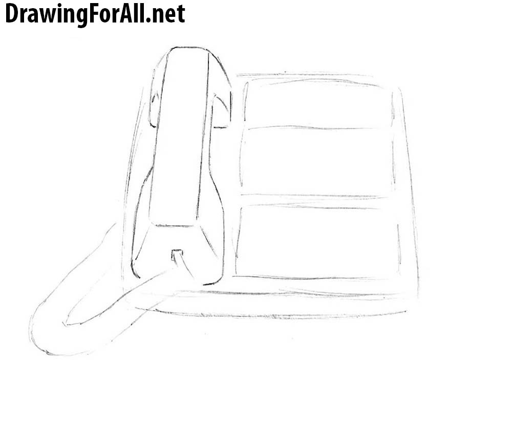 how to draw phones