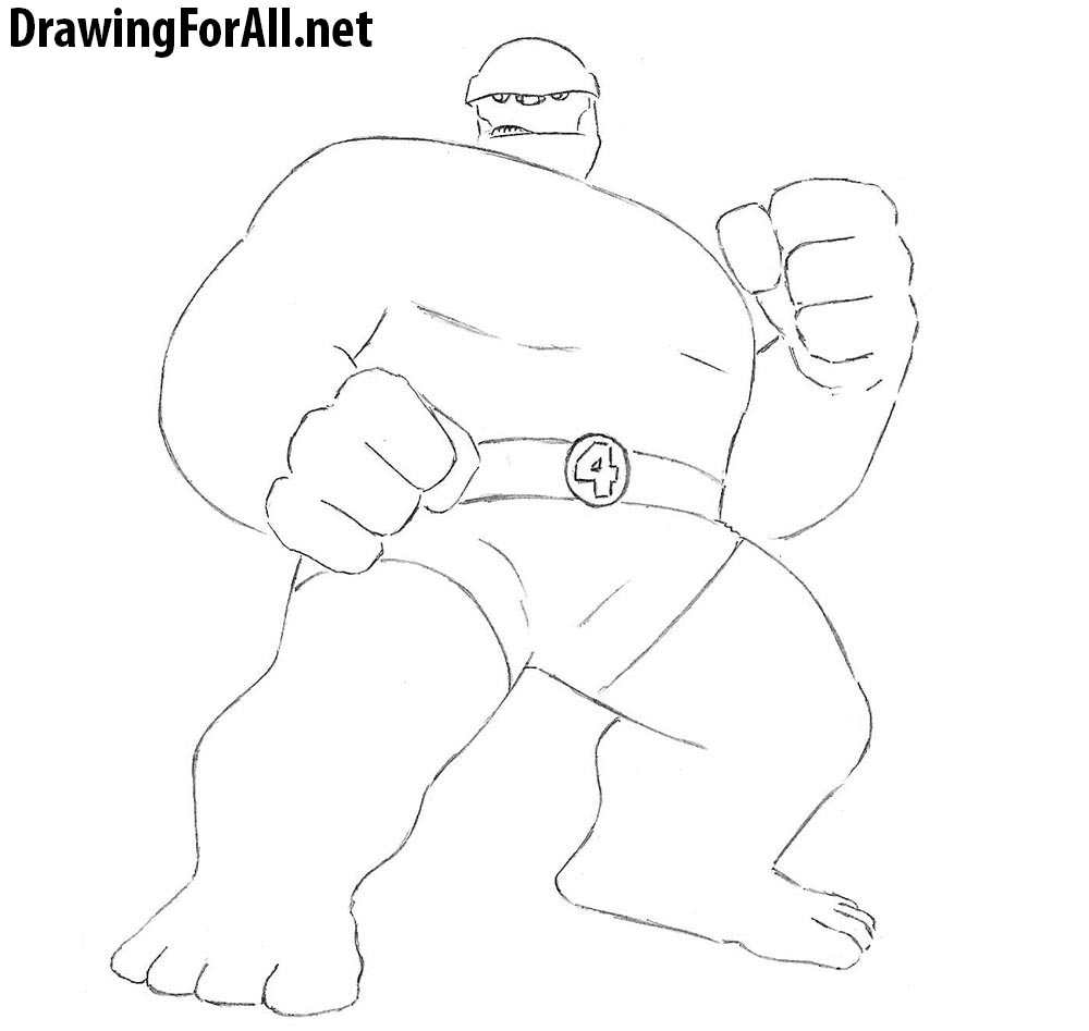 how to draw fantastic four
