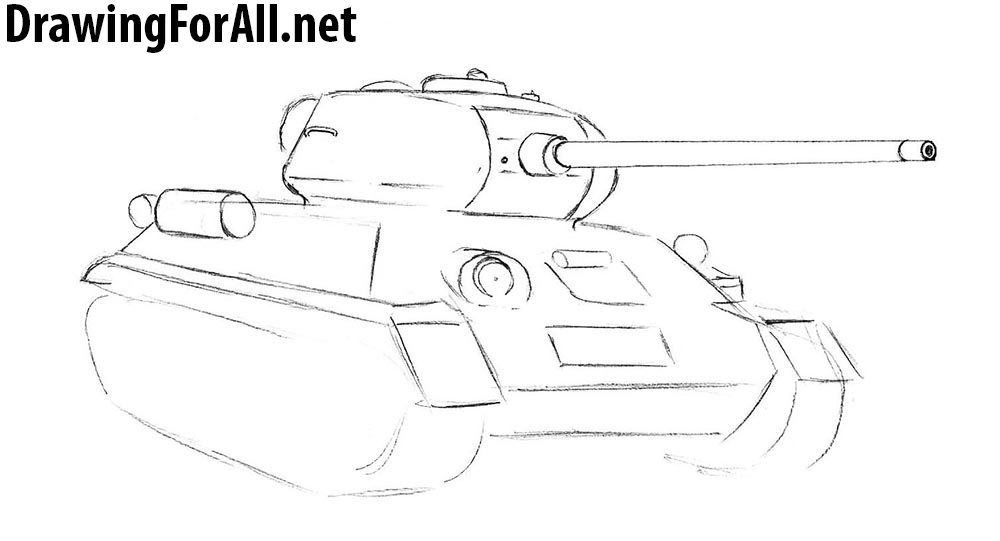 How to draw a russian tank