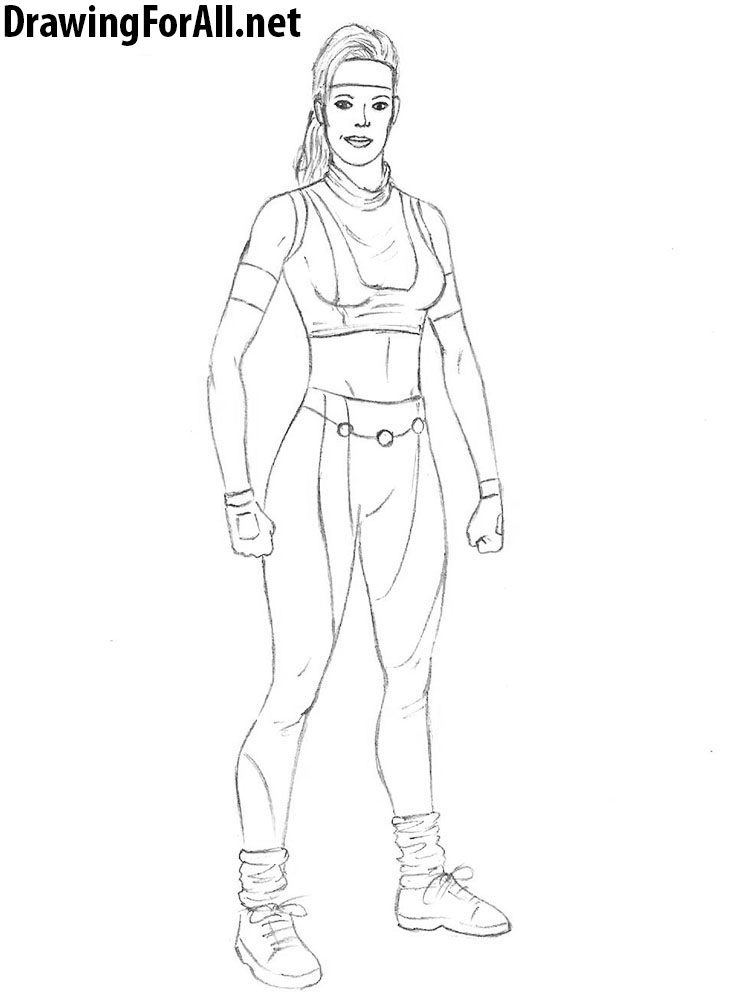 Sonya Blade drawing