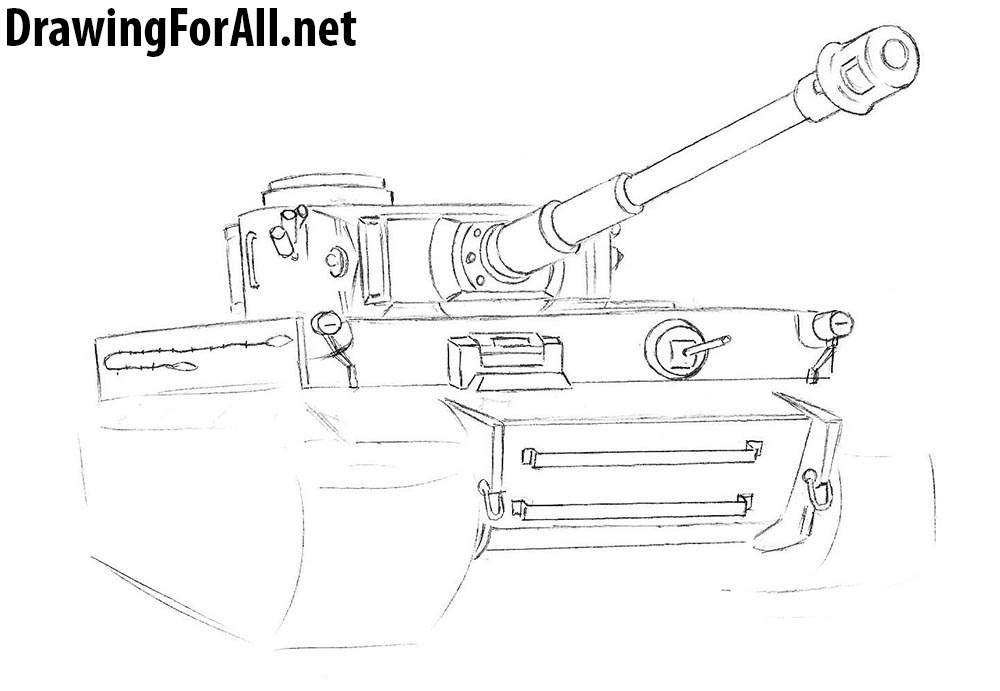 drawing lesson on how to draw a tank tiger