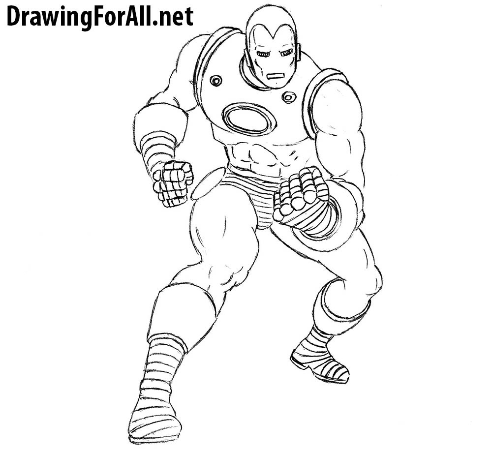 how to draw classic marvel character