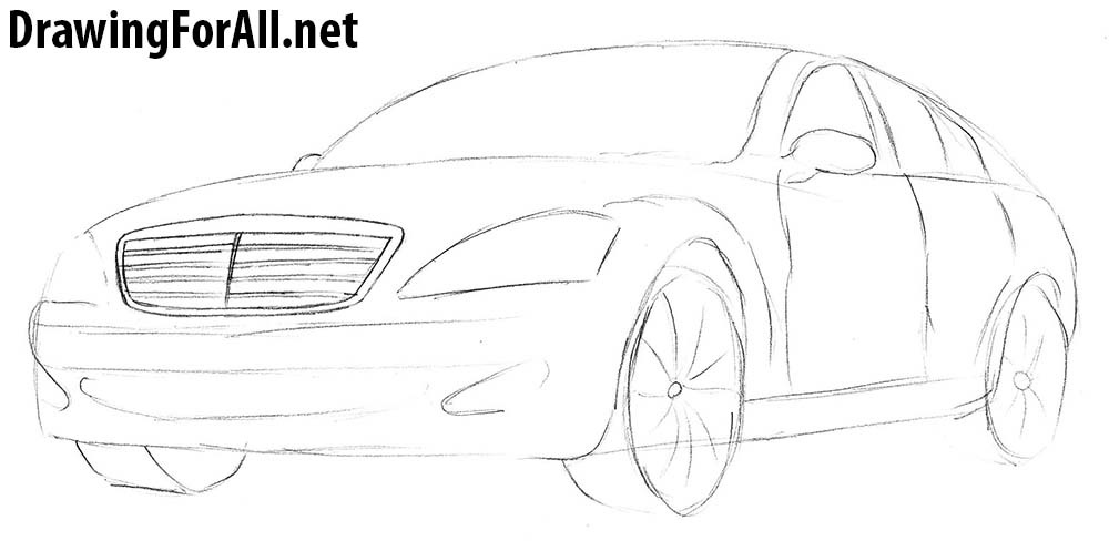 how to draw mercedes benz s class