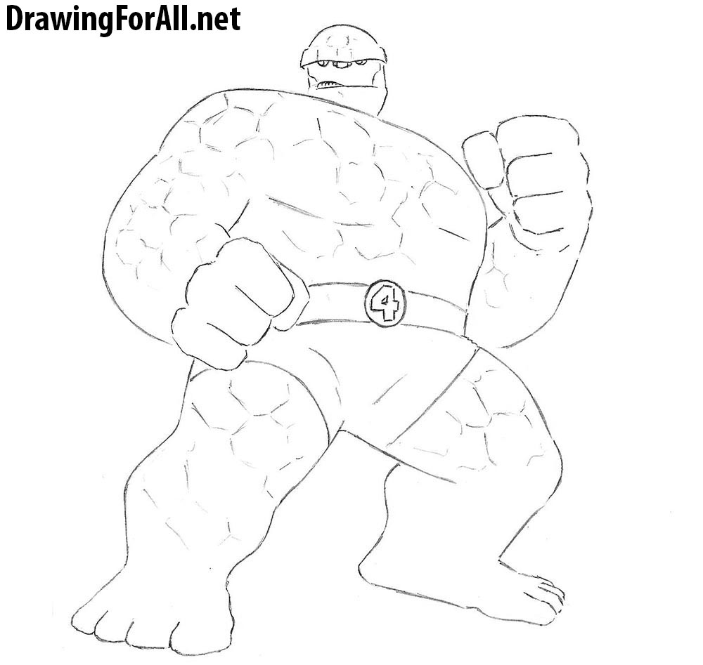 how to draw the thing from marvel comics