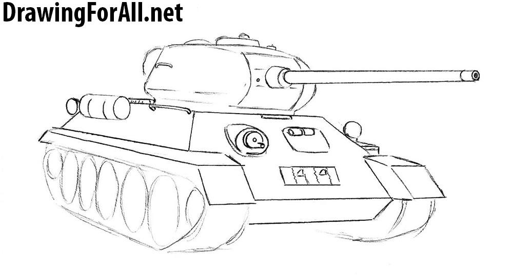 How to draw a soviet tank