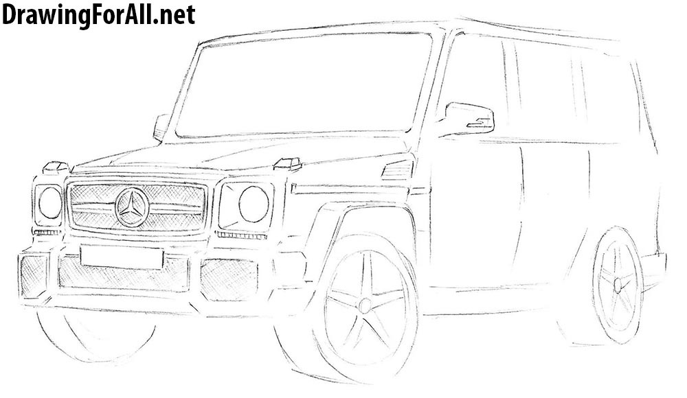 drawing lesson on mercedes
