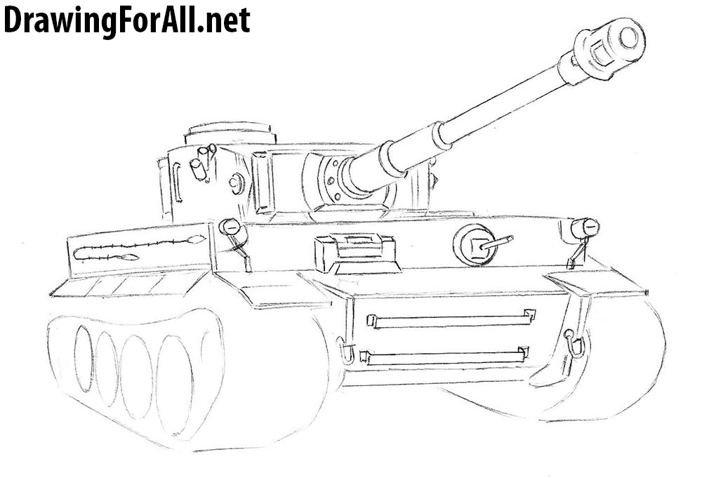 how to draw a german tank