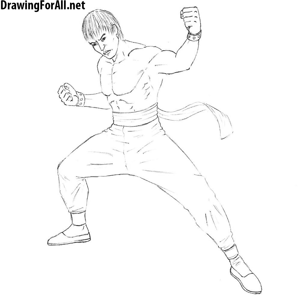 How to Draw Marshall Law from tekken