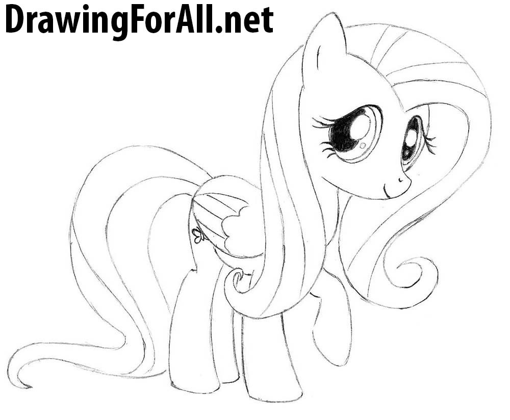 How to Draw Pony Fluttershy