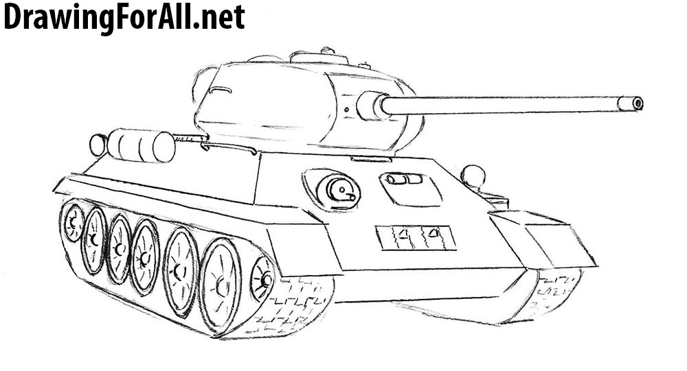 tank t-34 drawing