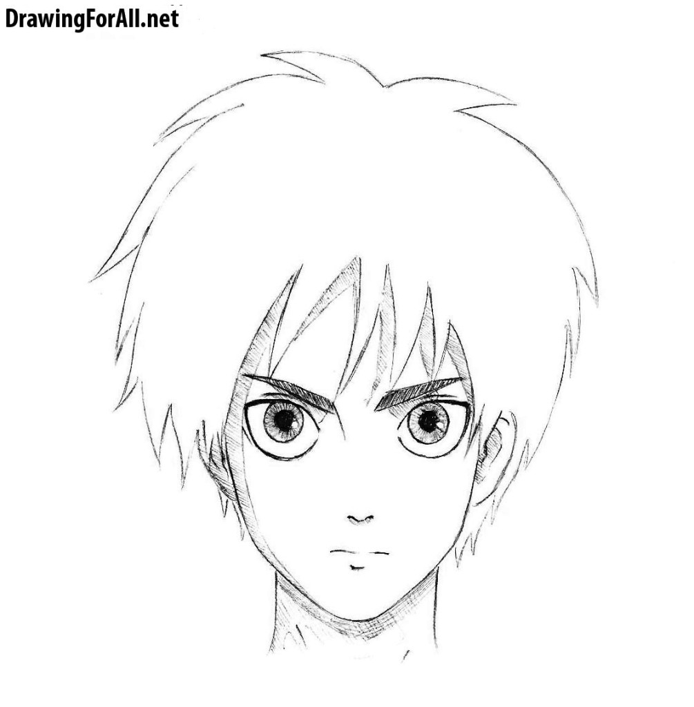 How to draw Eren Yeager