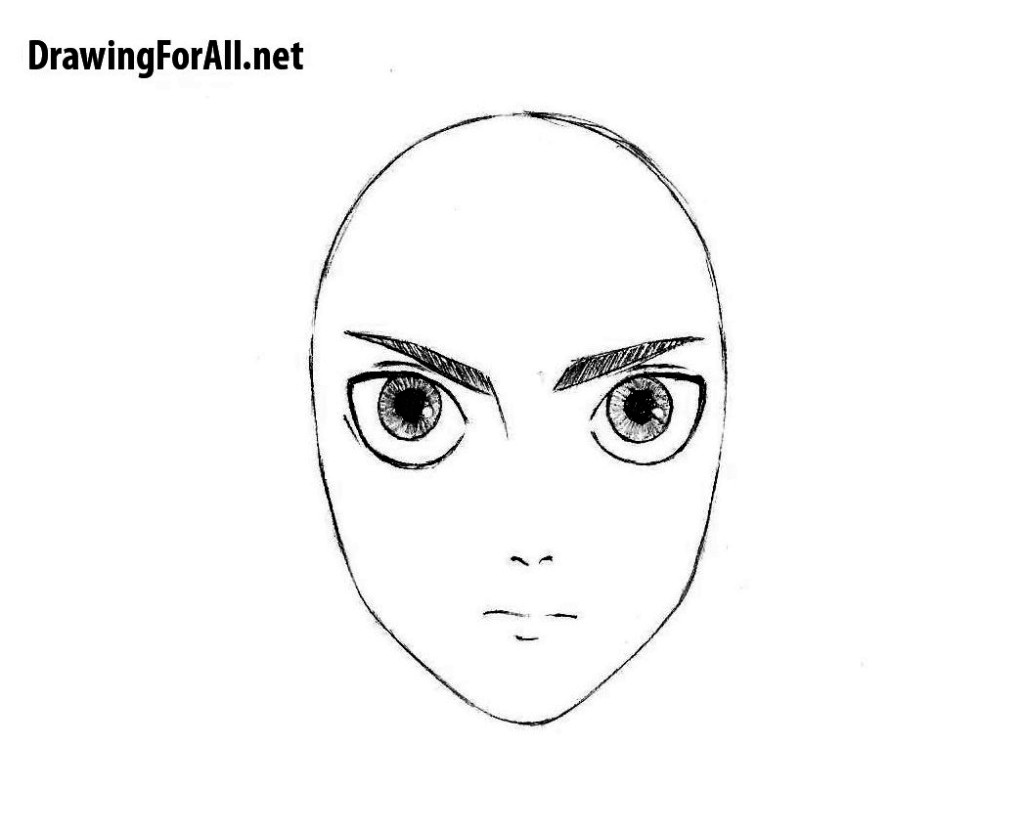 How to draw Eren Yeager for kids
