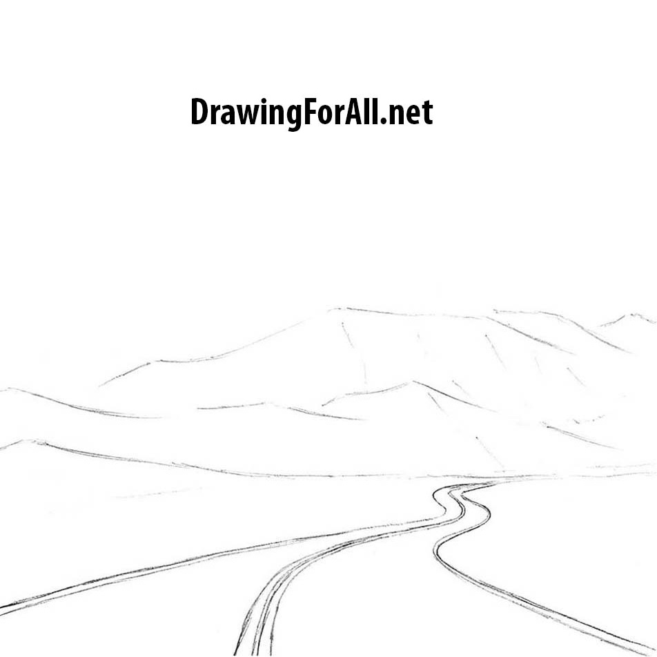 How to Draw a Road for Beginners | DrawingForAll.net
