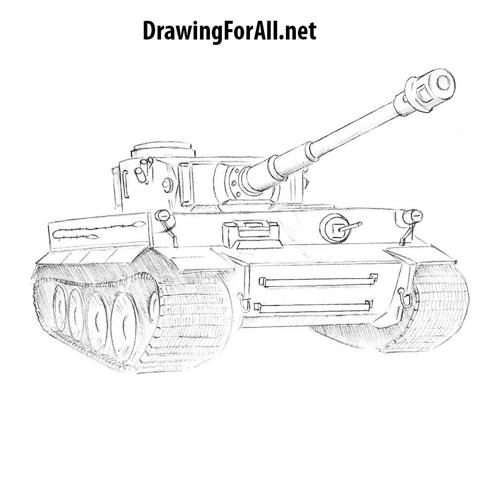 Uncategorized How To Draw Tank how to draw a tiger tank drawingforall net