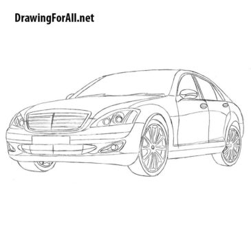 How to Draw Mercedes S-Class W221