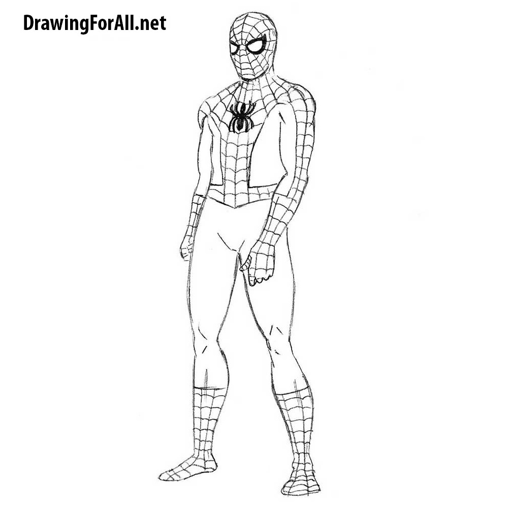 The Easiest Way to Draw Spider-Man