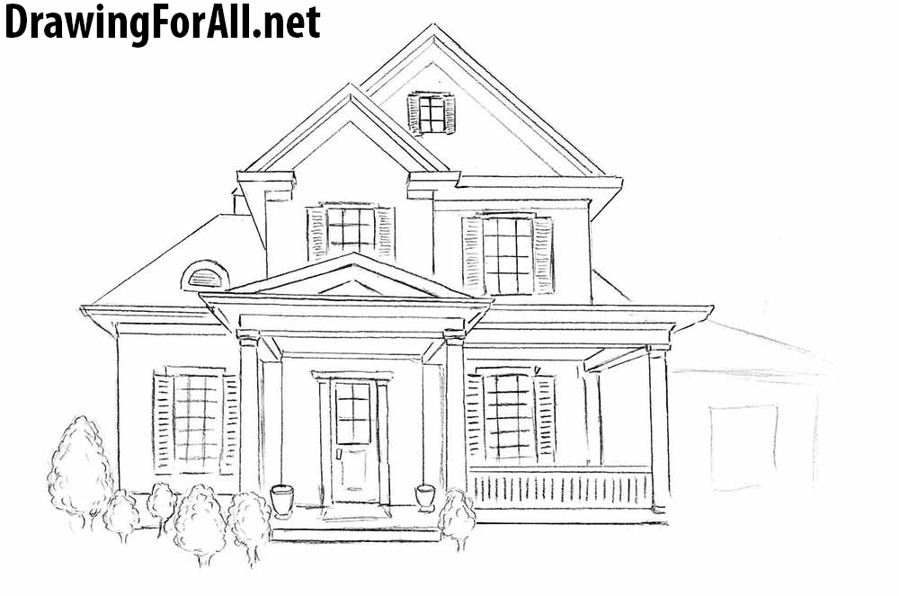 How to Draw a House for Beginners | DrawingForAll.net