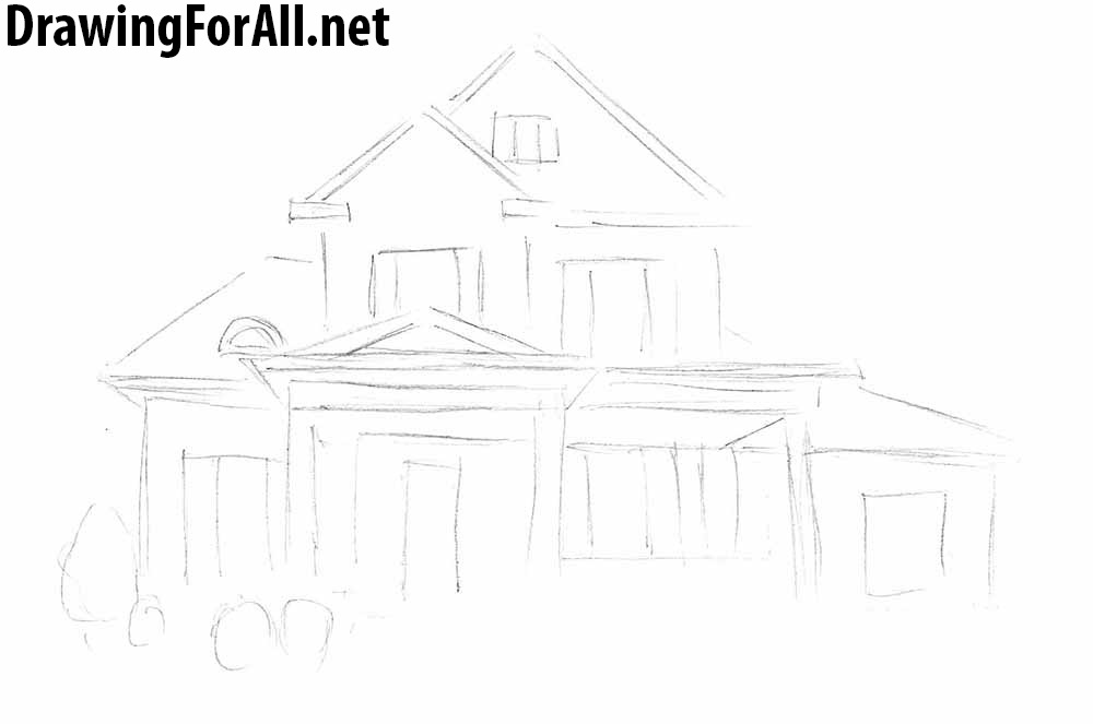 learn to draw a house for beginners