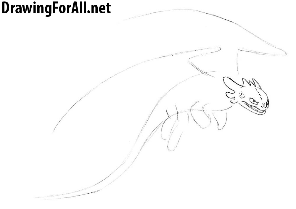 how to draw a dragon from how to train your dragon