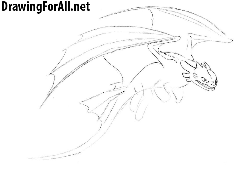 toothless drawing tutorial