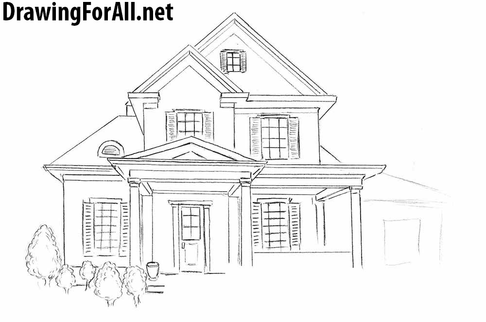 How to draw a house for beginners for House drawing easy